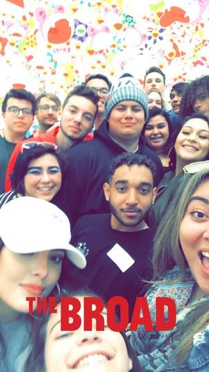Student Selfie of Broad Museum Visit