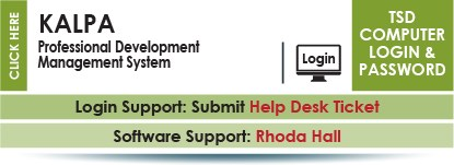 KALPA is a professinal development management system site.  Network login and password.  Contact Help Desk for support.