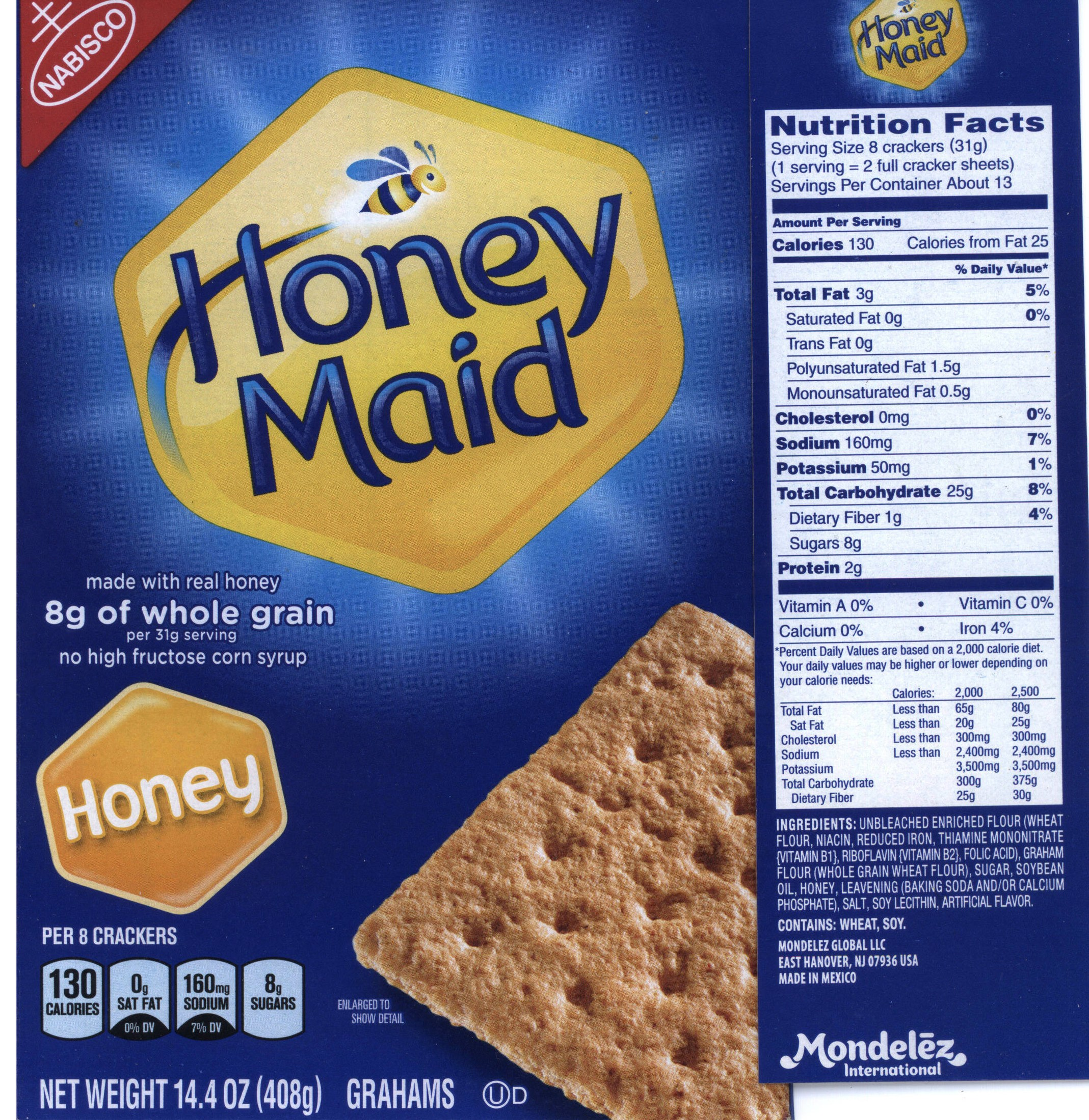 Honey Maid Nutritional info