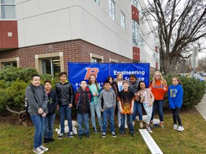 Student group photo at BSU