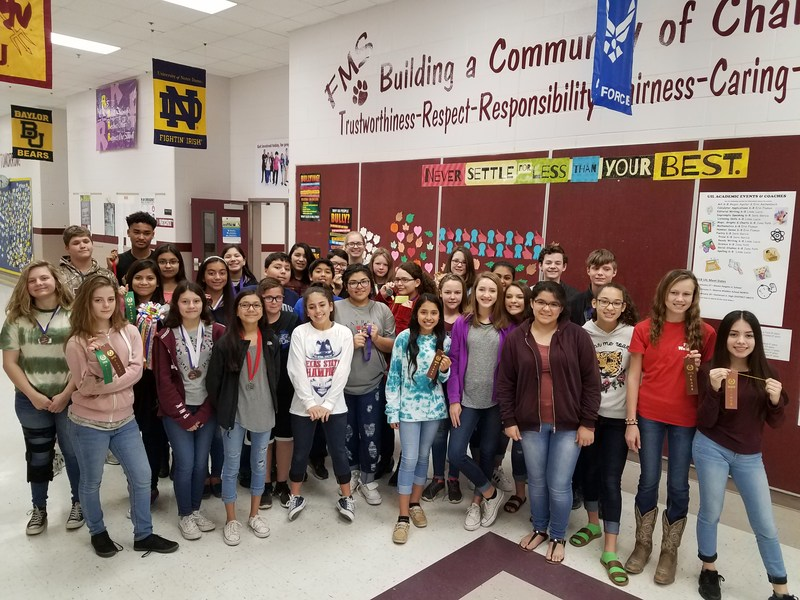 FMS students who attended the Boerne UIL Academic meet