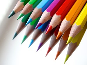Photo of colored pencils.