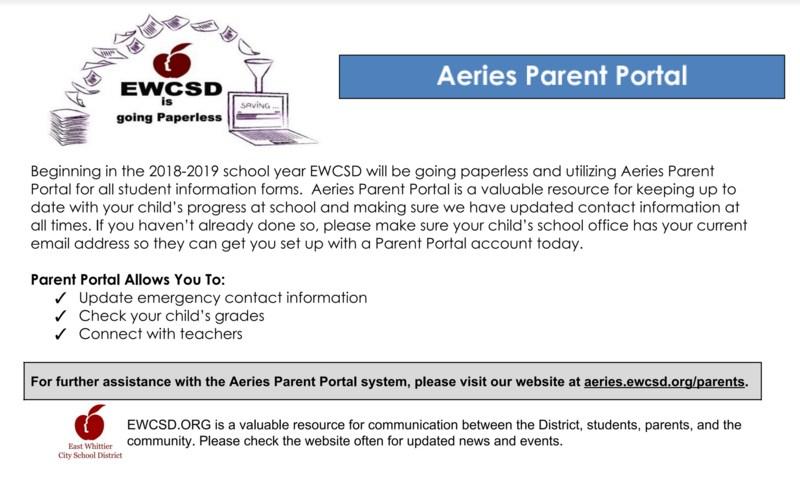 Parent Portal Account