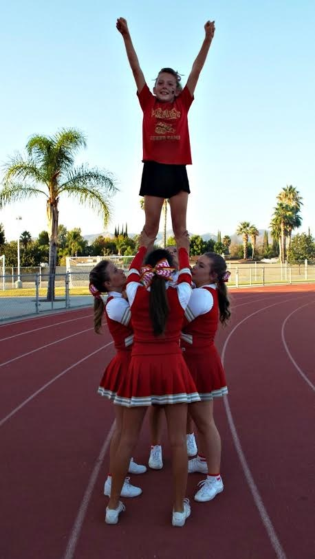 Hemet Cheer in action