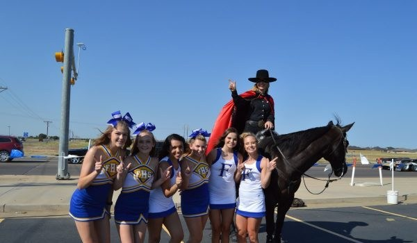 Frenship Ceerleaders and The Masked Rider