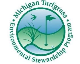 turfgrass program logo with golf course image in a circle