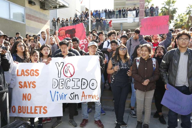 Global Studies students in protest featured in La Opinion Featured Photo