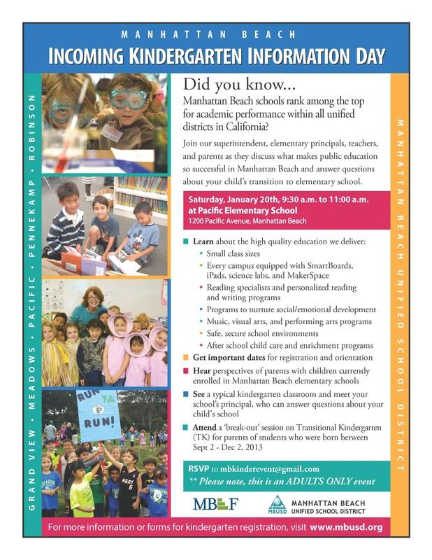 Kindergarten Info Day - Sat., January 20! Thumbnail Image