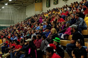 Crowd at FTC Robotics event hosted by Coloma on December 3, 2016