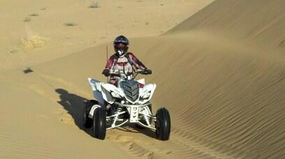 Quad riding.