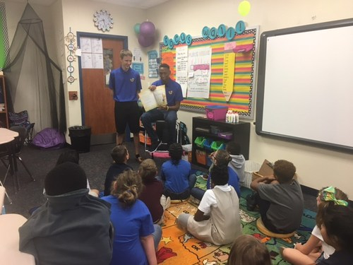 In honor of Homecoming week I would like to give a shout out the the Jacksonville Indian Football team! Thank you guys for coming and reading to us!!! Good Luck Friday Night from your fans in Mrs. Howard's 3rd grade class!!!!