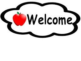 Image of word: welcome