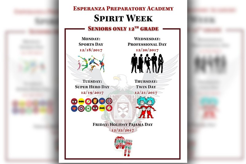 EPA Spirit Week Announcement.