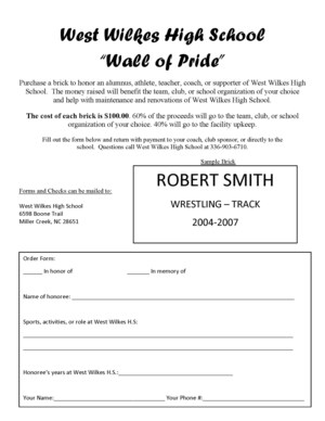 Wall of Pride flyer