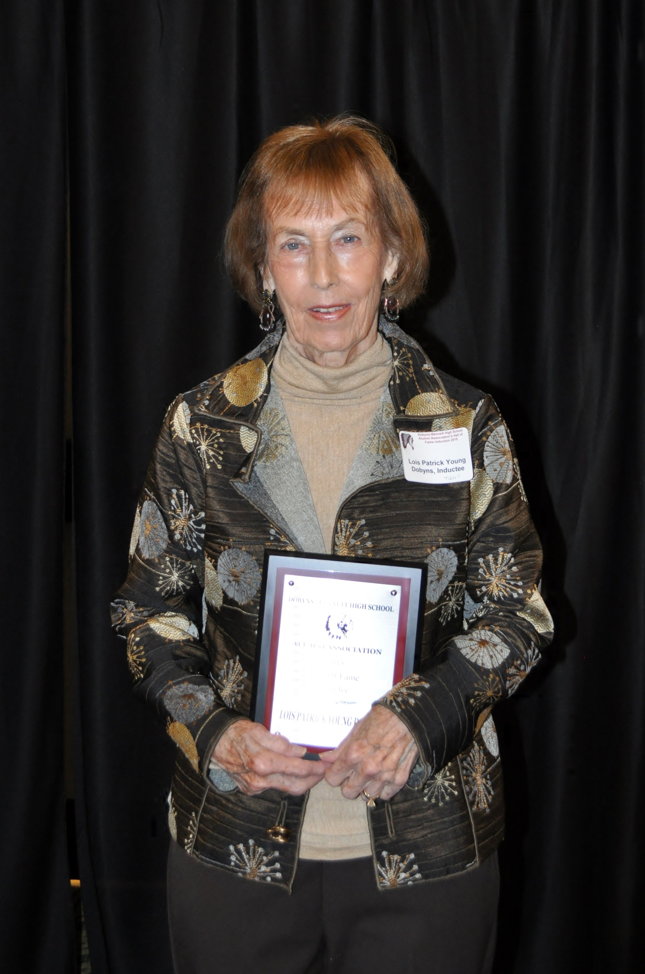 7th Annual Dobyns-Bennett Alumni Hall of Fame Inductee: Lois Patrick Young-Dobyns – Class of 1954