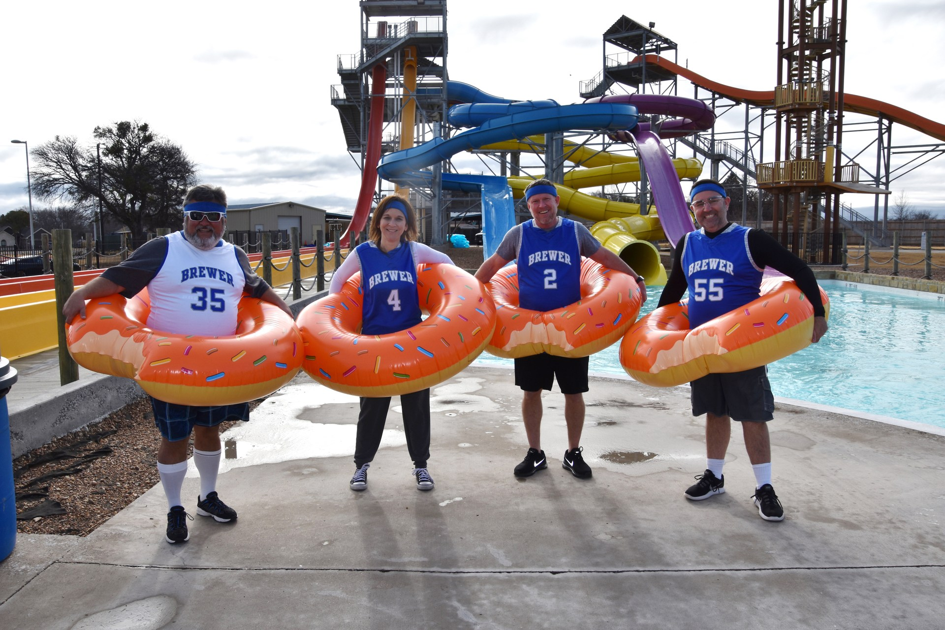 The Dunkin' Donuts team took the plunge during the BRRRewer Bear Plunge on Jan. 27.