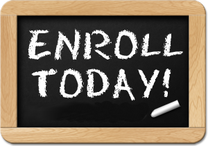 Enroll today icon
