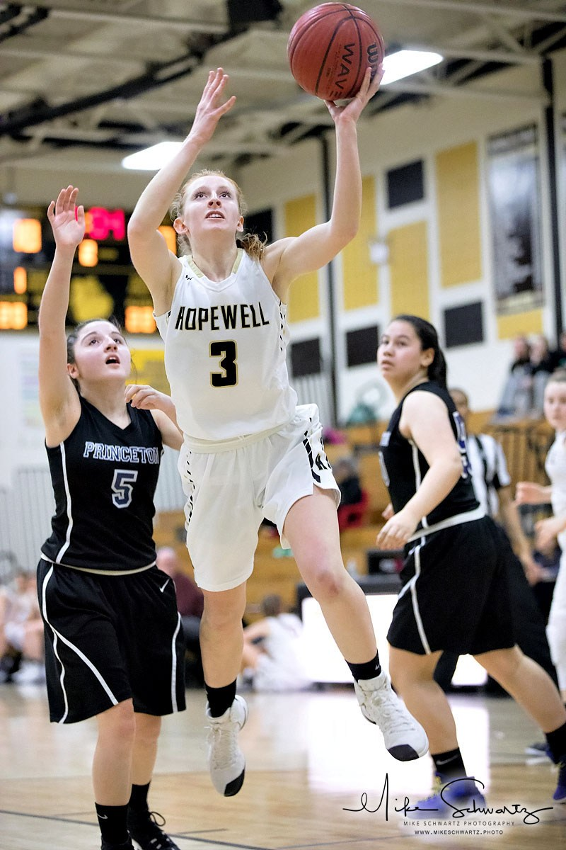 CHS girls basketball player drives for the basket