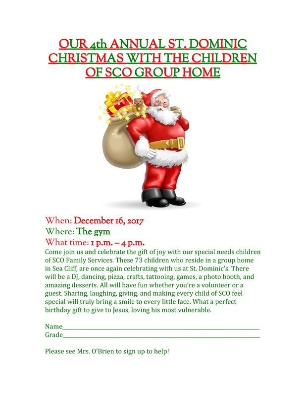 St. Dominic Christmas With The Children of SCO Group Home Featured Photo