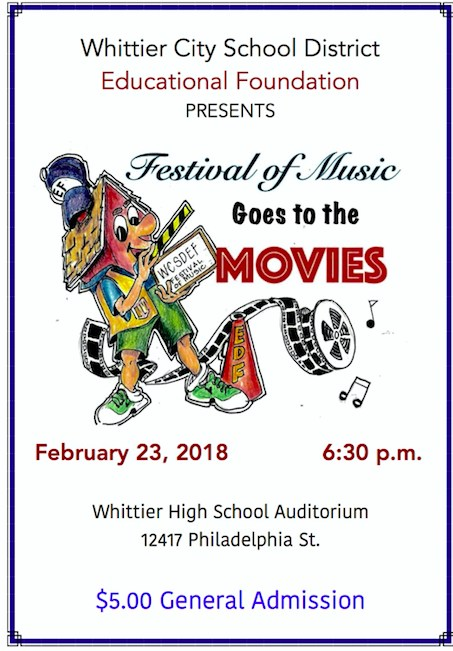 Flyer Festival of Music Goes to the Movies