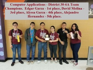 our UIL Academic team who placed at the District 30-6A meet held this past Saturday and will now advance to the Region IV competition in San Antonio.