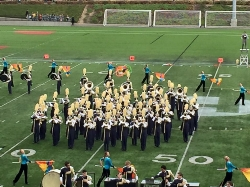 Mead Band at a football game