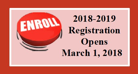 2018-2019 New Student Registration Window Opens March 1 Featured Photo