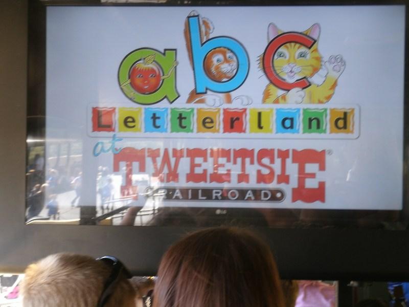 Letterland banner at Tweetsie Letterland.