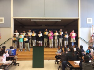 students receiving Honor Roll Awards