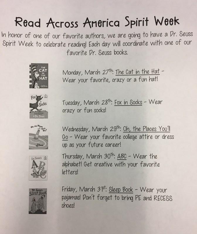 Read Across America Spirit Week Thumbnail Image