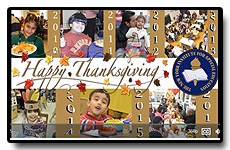 Throwback Thursday: Compilation video of our Thanksgiving celebrations over the past 7 years