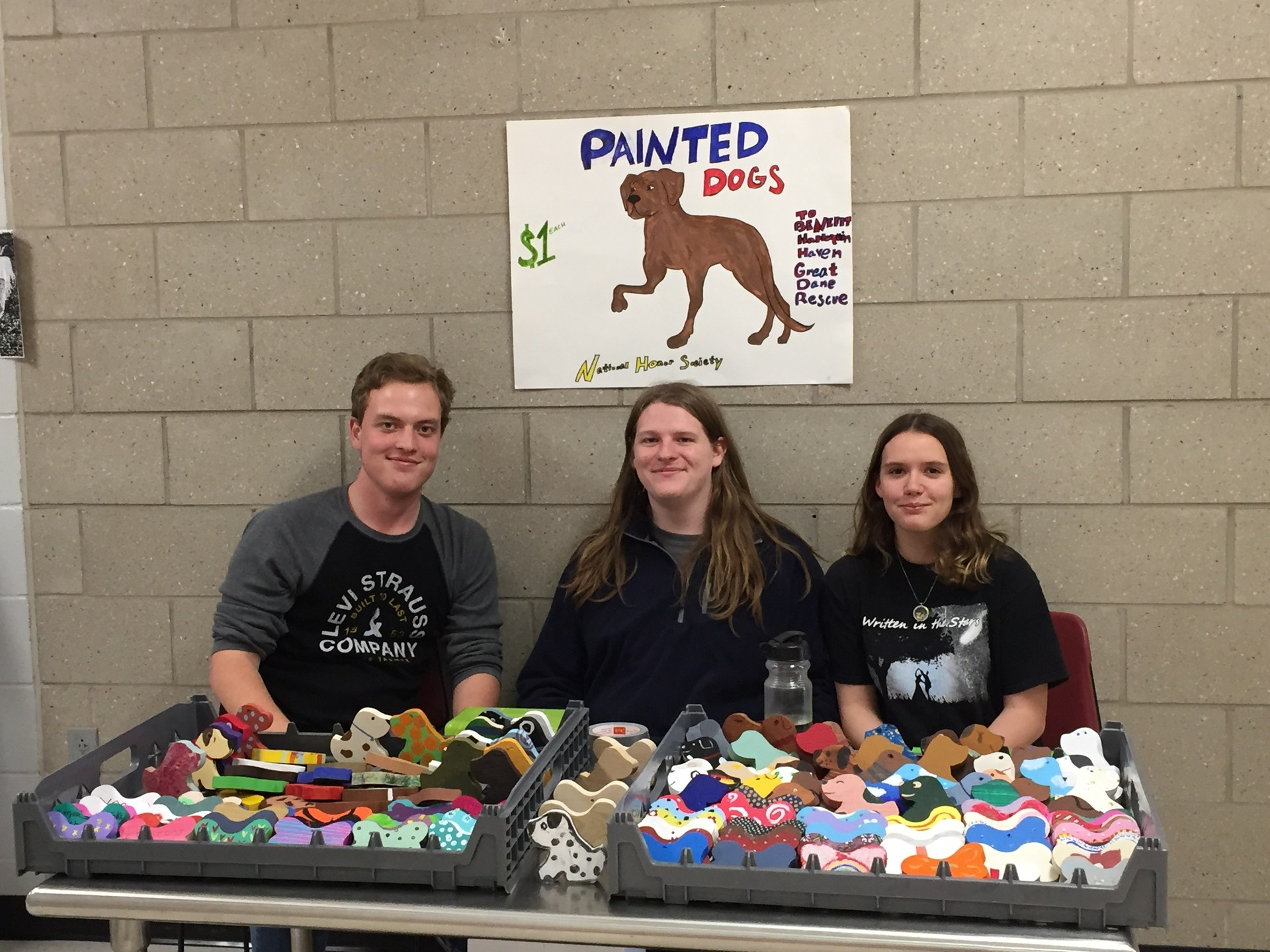 group at painted dog and bone sale at GHS