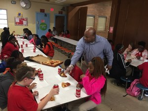 Group of Baker Middle Students Celebrate Achievement
