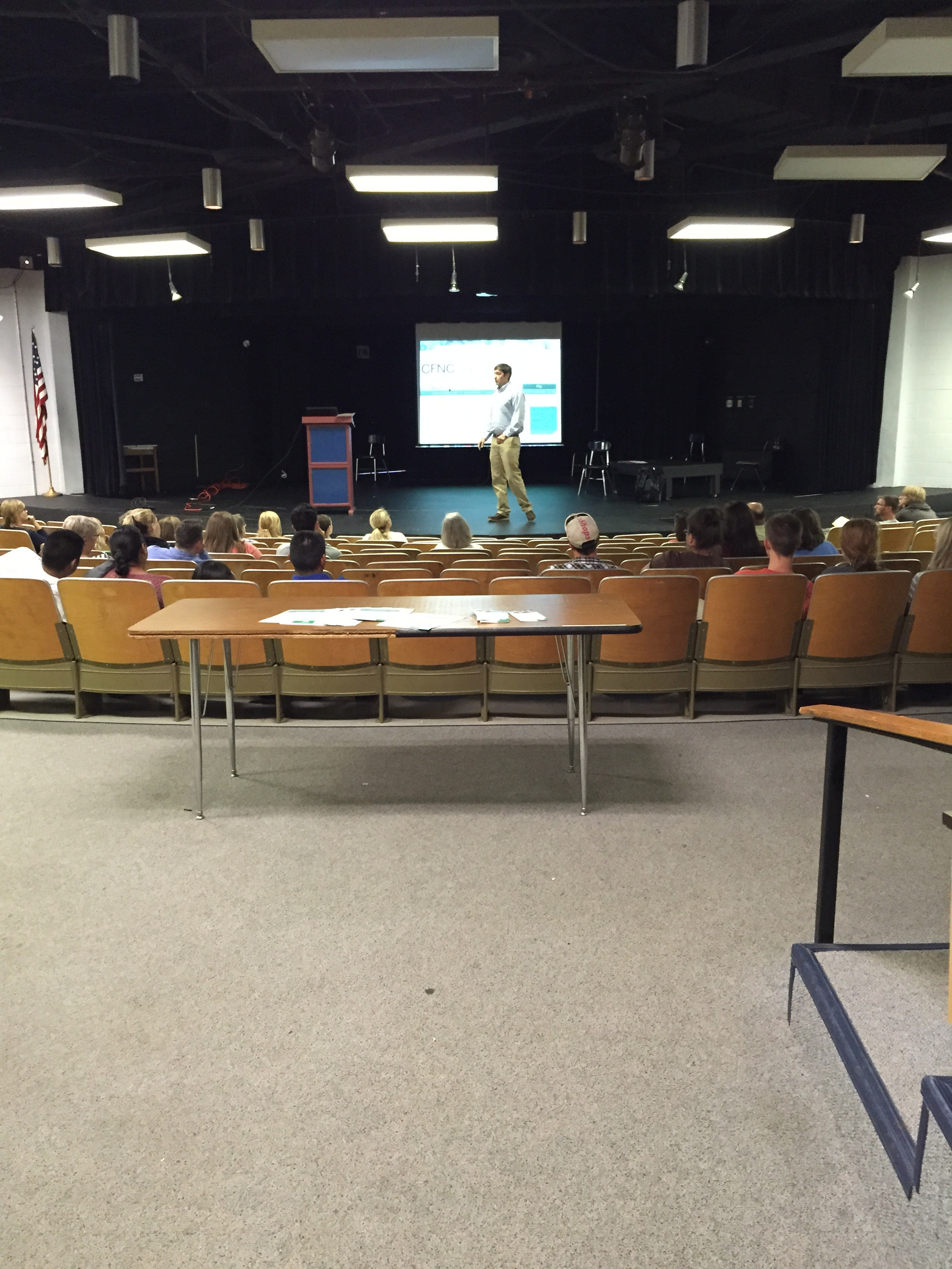 Information shared about CFNC with juniors and seniors