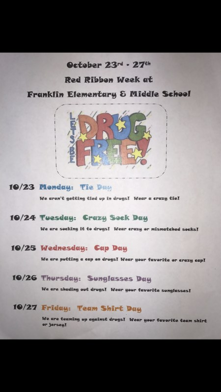 October 23rd- October 27th Red Ribbon Week! Featured Photo