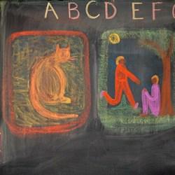 WSA Grade 1 chalkboard drawing