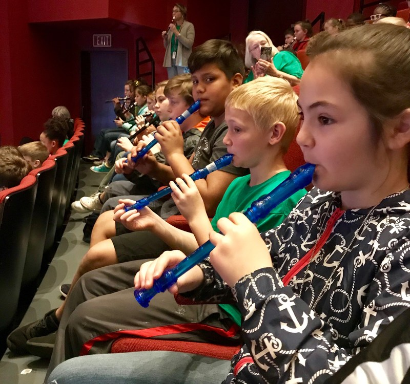 Pineview students at the Koger Center