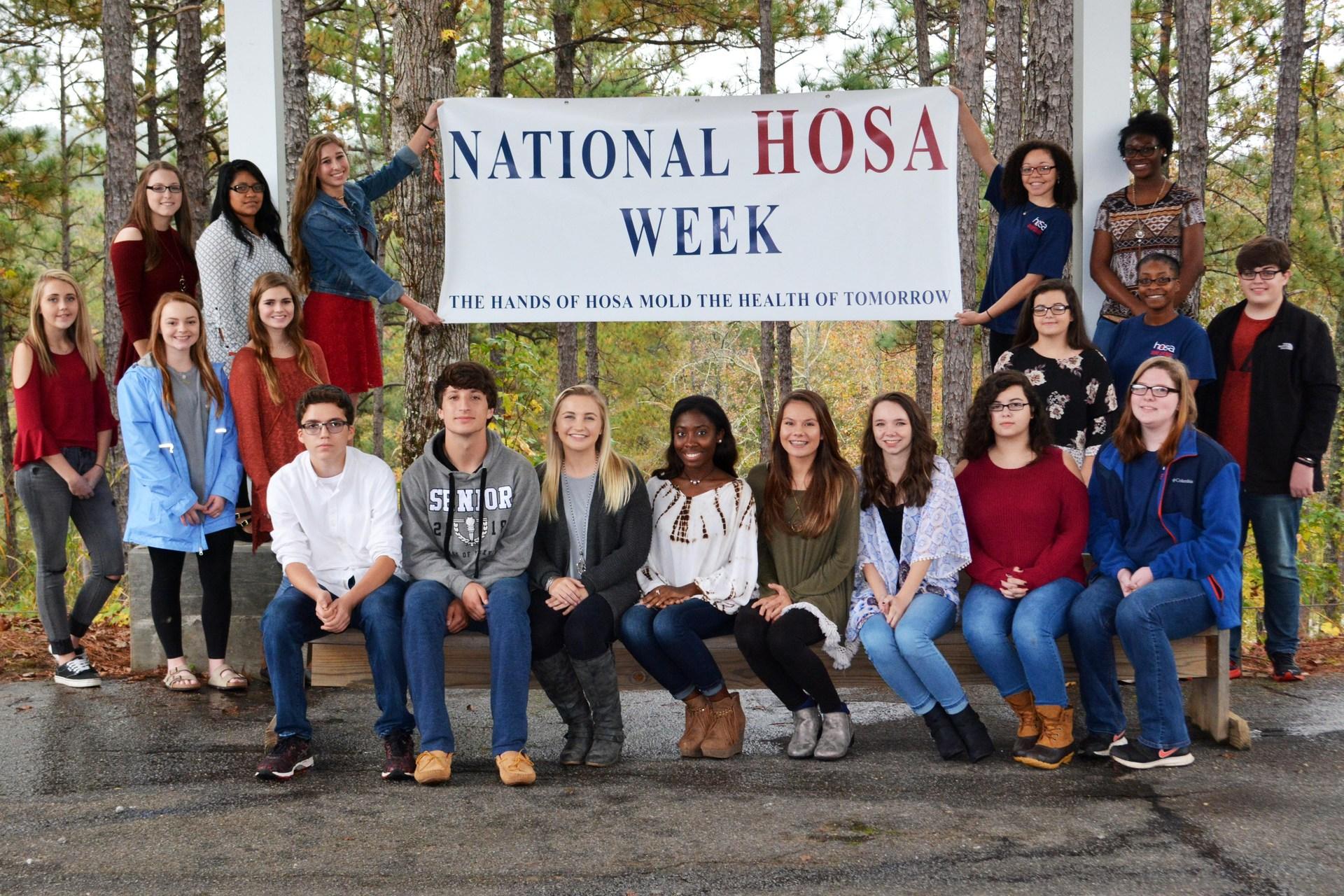 HOSA group photo