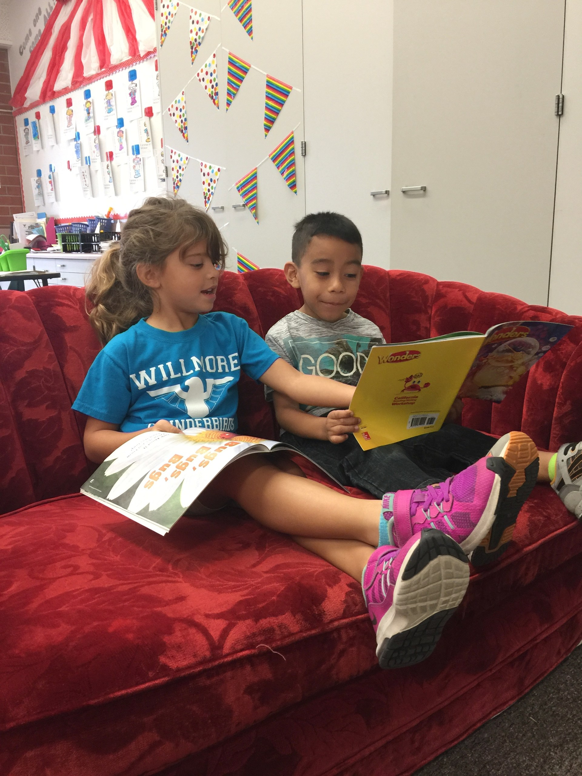 Reading together!