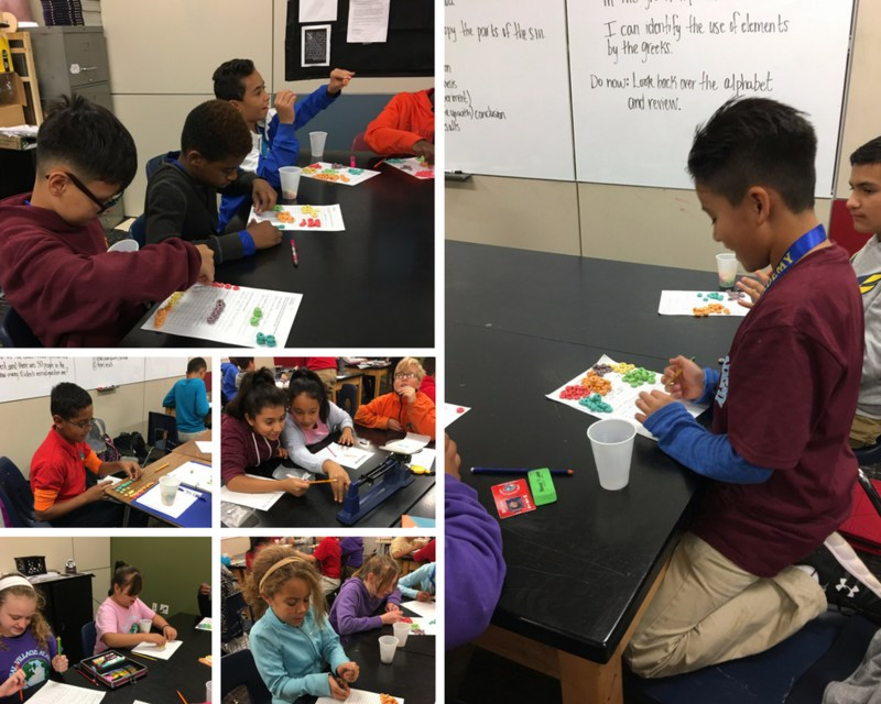 6th graders learning about the scientific method
