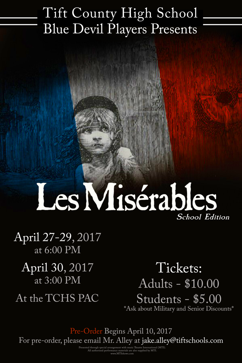 TCHS Blue Devil Players present Les Miserable Featured Photo