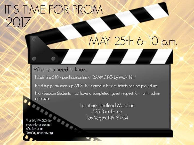 Beacon Academy Prom Flyer