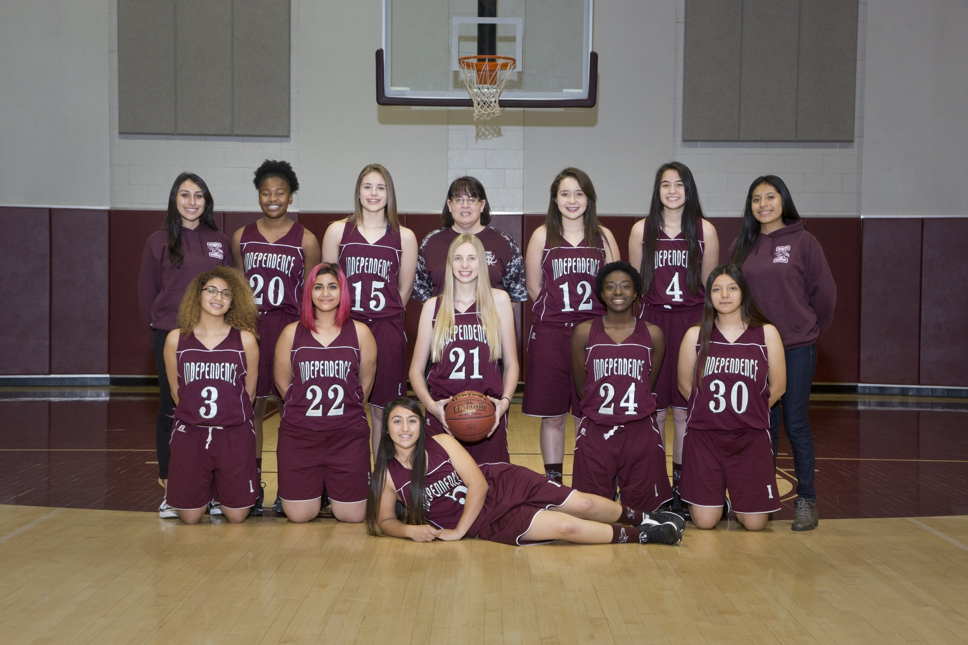 jv girls basketball 2017