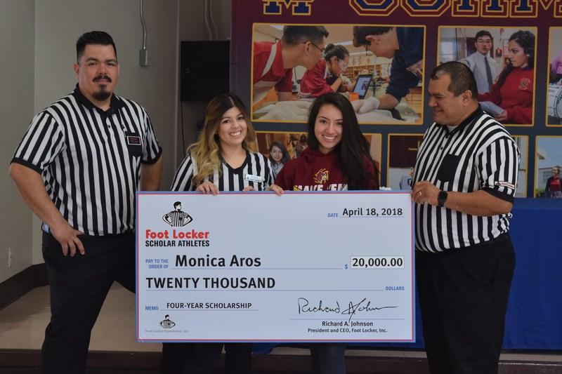 Congratulations Monica Aros on receiving Foot Locker Scholarship! Thumbnail Image
