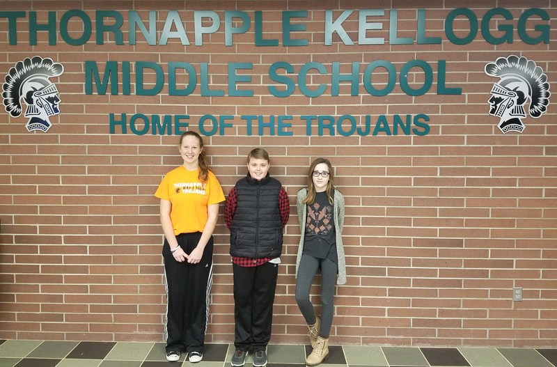 Middle School spelling bee champion, a first and second runner up are crowned.