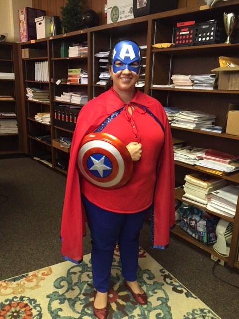 Mrs. Hammock as Captain America