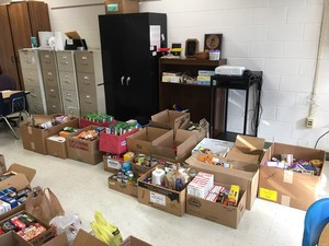 Food drive items from EES