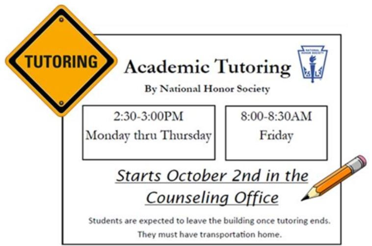 Tutoring Available Every Day at MLHS Thumbnail Image