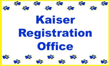 Kasier Registration Office Poster