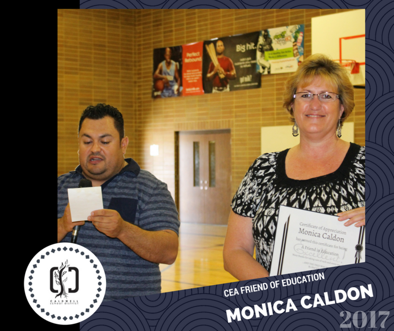 CEA Friend of Education Award to Mrs. Caldon Thumbnail Image